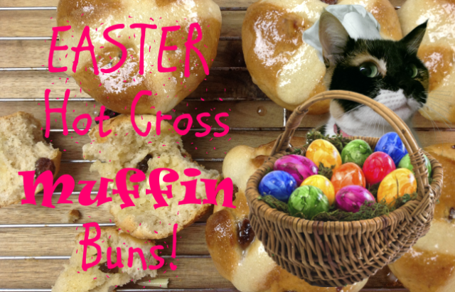 Easter Hot Cross Muffin Buns!